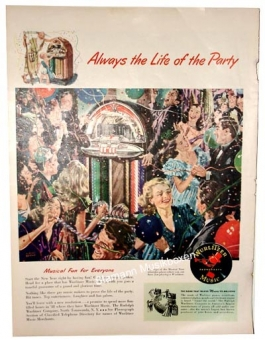 "Wurlitzer Werbung ""Always the Life of the Party"""