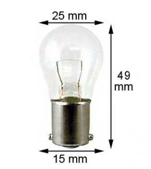 BA15s miniature lamp 24V/21W