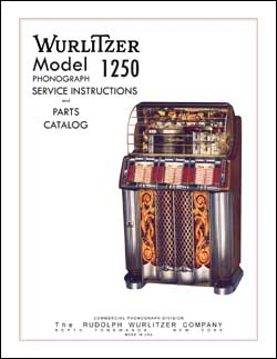 Service Manual Wurlitzer 1250