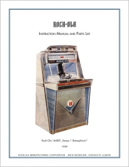 Service Manual 1468ST oder 1475ST, englisch Rock-Ola 1475ST