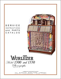 Service Manual Wurlitzer 1500, 1550