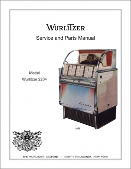 Service Manual Wurlitzer 2204