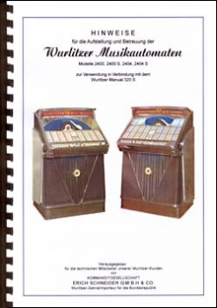 Hinweise zur Aufstellung Wurlitzer 2400 series - German