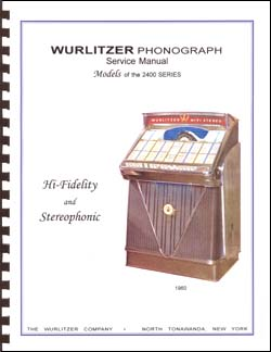 Service Manual Wurlitzer 2400 series