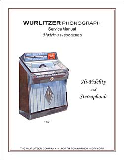 Service Manual Wurlitzer 2600
