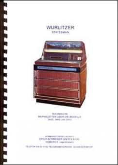 Technische Merklätter Wurlitzer 3400
