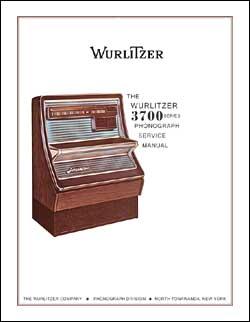 Service Manual Wurlitzer 3700