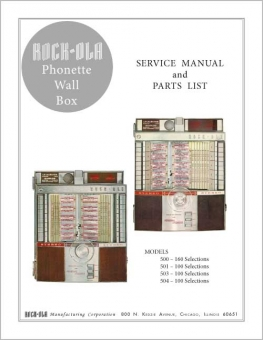 Service Manual Rock-Ola 500 - 504