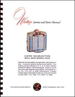 Service Manual Wurlitzer 5205