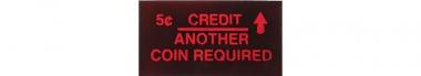 "Instruction glass ""5 Cent Credit ..."""