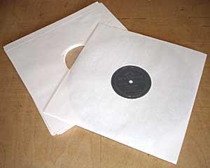 Papierhülle für Schellackplatten