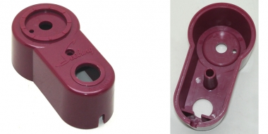 Remote volume control housing, cherry red