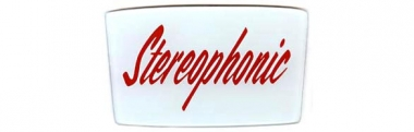 "Glass emblem ""Stereophonic"""