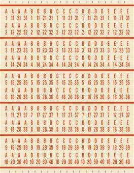 Aufkleber für Bücherseiten Fernwähler 1555 / 1485