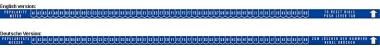 Aufkleber Popularitätszähler, blau