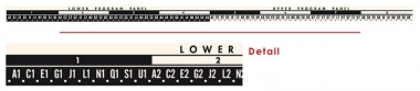 Popularity meter letter and number strip 160, black