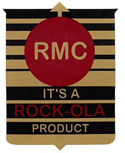 "Decal ""It's A Rock-Ola Product"", large"