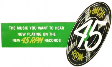 """Decal """"To Play 45 RPM Records"""""""