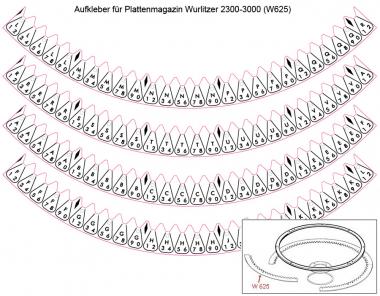 Aufkleber für Plattenmagazin W2300 - 3300