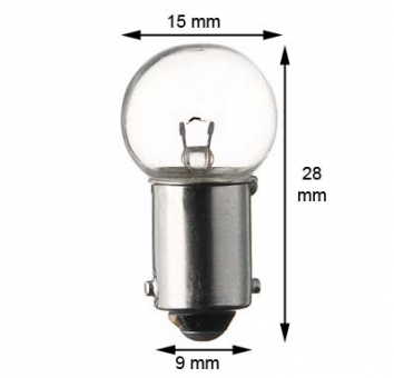 BA9s miniature lamp #1458