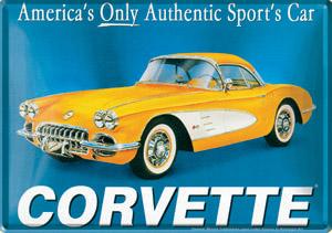 "Blechpostkarte ""Corvette"""
