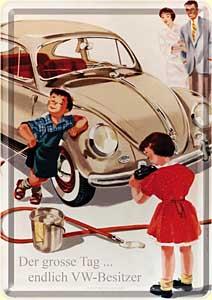 """Blechpostkarte """"VW - Der grosse Tag"""""""