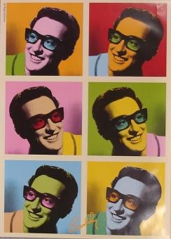 Buddy Holly Pop-Art poster