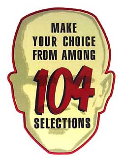 """Decal """"104 Selections"""""""