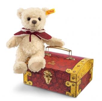 Clara Teddybär mit Schatztruhe