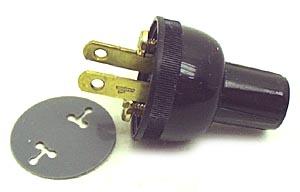 Netzstecker, 110V, rund