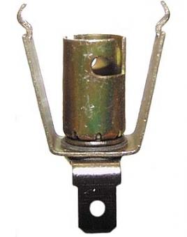 Lampenfassung Ba9s zum Klemmen