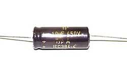 10 µF Hochvolt-Elektrolyt-Kondensator