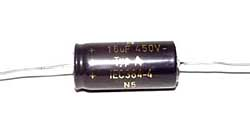 15 µF high voltage electrolytic capacitor