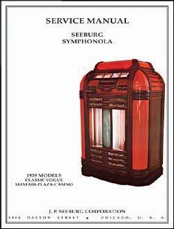 Service Manual Seeburg Symphonola 1939