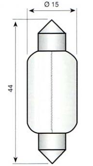 Festoon lamp S8,5 - 6V/18W