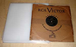 Record sleeve for 78s, plastic