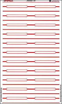 """Titlestrips """"Classic Red"""""""