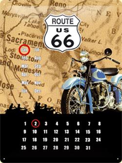 "Calendar ""Route 66"""