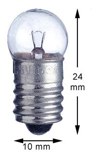 E10 miniature screw 24V/1,2W