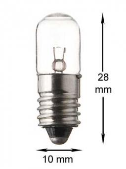 E10 Lampe 7V/2W - klar