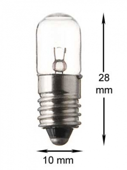E10 miniature screw 24V/2W