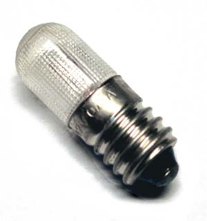 E10 miniature screw 7V/2W - fluted