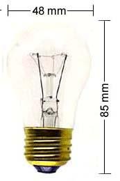 E27 lamp 15W/110V, clear