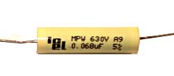 0,068 µF high voltage capacitor, axial