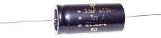 33 µF Hochvolt-Elektrolyt-Kondensator