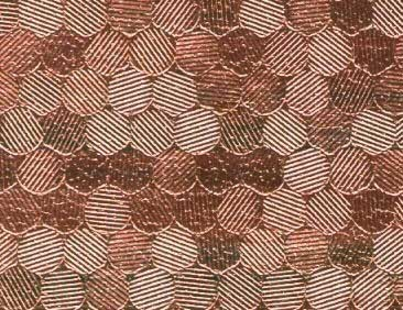 Cabinet fabric, copper