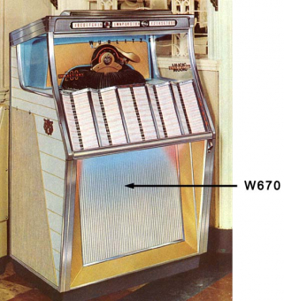 Grill screen Wurlitzer 2250