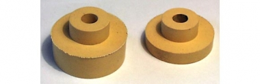 Rubber bushings for counter