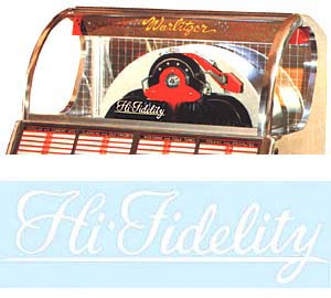 "Decal ""High Fidelity"", white"