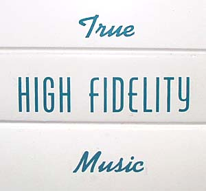 "Decal ""True High Fidelity Music"""